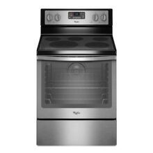 Whirlpool Smooth Surface 6 4 cuft Self Cleaning Convection Electric Range