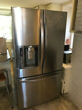 LG LFX28978ST 36  French Door Refrigerator in Stainless Steel  Great Shape