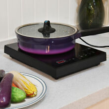 1800W Single Portable Induction Cooker Countertop Stove Burner Digital Control