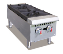 Hakka Double Stock Pot Stove with Stainless Steel Construction 220000 BTU Burner