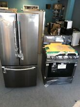 Samsung 30  3 door refrigerator and gas stove