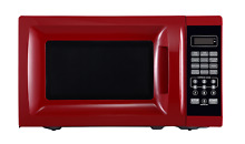 Countertop Microwave Oven 700W Red Dorm College Compact Kitchen Room Appliance