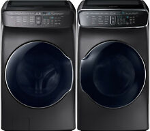 Samsung Black Stainless Flex Washer   Gas Dryer WV60M9900AV and DVG60M9900V