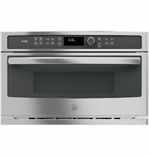GE PROFILE 1 7 Cu Ft Built In Microwave Convection Oven PWB7030SLSS Stainless