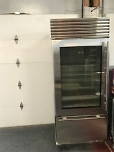 Sub Zero 36  Fridge Freezer with Glass Door 650G S Excellent Condition