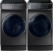 Samsung Black Stainless Flex Washer Gas Dryer Peds WV55M9600AV DVG55M9600V