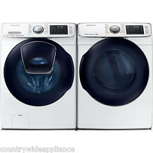 Samsung White Front Load Washer and Gas Dryer WF50K7500AW and DV50K7500GW