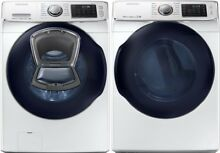 Samsung White Front Load Washer Gas Dryer WF45K6500AW DV45K6500GW