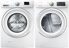 Samsung White Front Load Washer and Gas Dryer WF42H5000AW and DV42H5000GW