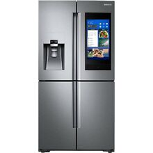Samsung Stainless Steel 4 Door Flex Counter Depth w Hub Refrigerator RF22N9781SR