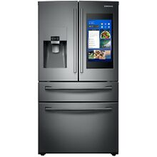 Samsung Black Stainless 4 Door French Refrigerator Family Hub 3 0 RF28NHEDBSG