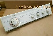 Whirlpool Gold dryer console with Timer 3406725 with knobs included