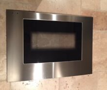 THERMADOR OVEN DOOR GLASS PANEL W SS CURVED FOR C 30  OVENS