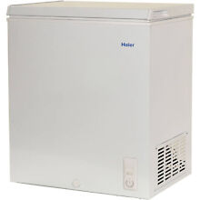 Haier Chest Deep Freezer 5 0 cu ft Small Size Compact Dorm Apartment  White NEW