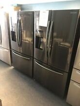 Samsung 24 6 cu  ft  French Door Refrigerator in Black Stainless RF263BEAESG