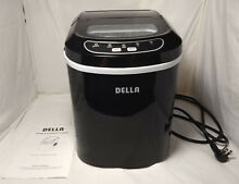 Della Portable Ice Maker Easy Touch Digital 2 Selectable Cube Sizes 26 Lbs a day