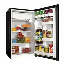 3 3 cu ft Compact Refrigerator  Black space saving dorm college school rooms