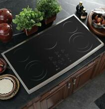 GE Profile PP980SMSS 36  Built In CleanDesign Cooktop  Stainless Steel   NEW