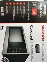 Sharp countertop microwave stainless steel w sensor 1 touch cooking 10 levels