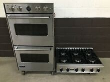 2 pc set  Viking Range Top 36   and Viking  30  Double Wall Oven VEDO5301SS