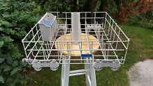 8193795 Whirlpool Dishwasher Lower Rack with wheels   Preowned w  basket