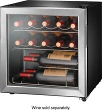 Open Box Excellent  Insignia  14 Bottle Wine Cooler   Stainless steel
