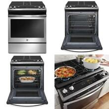 Kenmore 75113 5 0 Cu  Ft  Slide In Gas Range With Turbo Boil In Stainless Steel
