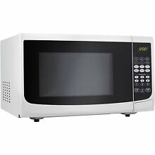 DANBY 0 7 Cu  Ft  700W White Countertop Microwave Oven DMW7700WDB