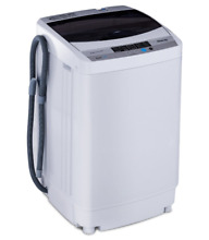 Automatic Portable Compact Washing Machine Spin Dryer 10 Programs Pump Drain New