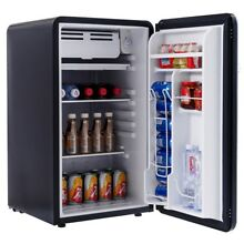 3 2 Cu Ft Home Compact Refrigerator Fridge Freezer with Handle Dorm Black US