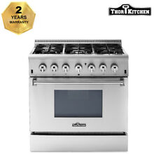 Thor Kitchen 36 Gas Range Electric Oven 6 Burners Cooktop HRD3606U Dual Fuel