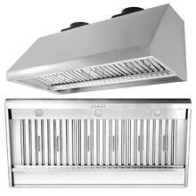 Thor Kitchen 48  1200CFM Stainless Steel Range Hood Ventilator Cooking Tool US