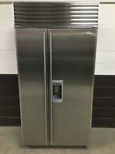 Sub Zero 685 S   42  Refrigerator Freezer Side by Side Stainless Steel