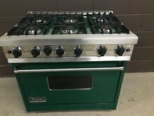 VIKING VGIC3676GFG 36  Professional Gas Range 6 Burner Forest Green