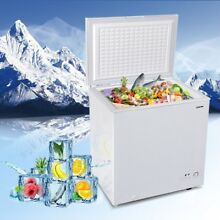 5 2 CU  FT Compact Chest Freezer Single Door Household Compressor Cooling White