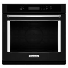 KitchenAid KOSE500EBL 30  Electric Single Wall Oven Black Convection Self Clean