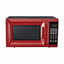 Microwave LED Display Making Popcorn Cook Reheat Defrost Home Kitchen Countertop