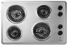 Whirlpool 30  WCC31430AR Chrome Electric Built in Cooktop Brand New Original Box