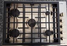 Jenn Air JGC7530BP 30  Stainless 5 Burner Gas Cooktop Display