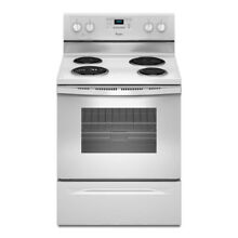 Whirlpool 30 in Self Cleaning Electric Range  White  WFC310S0EW