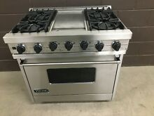 VIKING VDSC3654GSS 36  Professional Dual Fuel Range Oven 4 Burners Griddle
