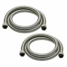 Universal 3 4 in x6 ft Stainless Steel High Efficiency Washing Machine Hose 2 PK