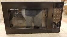 SHARP COUNTERTOP CAROUSEL CONVECTION MICROWAVE OVEN 1 5 CU  FT  900W SMC1585BB