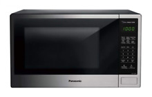 Panasonic NN SU696S Countertop Microwave Oven with Genius Cooking Sensor and Pop