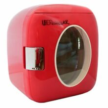 XL 12 Can Retro Personal Mini Fridge for Home Office Dorm Garage Boat Car Red
