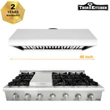 Thor Kitchen 48  Gas Range Cooktop 48  Range Hood 6 Burner Griddle HRT4806U