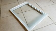 Frigidaire Refrigerator Cover Crisper Pan  w  glass  Part  240354502 240350635