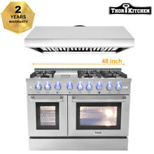 Thor Kitchen 48  Range Hood 48  Gas Oven 6 Burners Range HRG4808 Stainless Steel