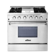 THOR KITCHEN 36  Stainless Steel Gas Range 5 2 Cu  Ft Oven 4 Burner Stove G9C2