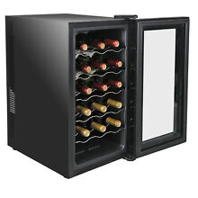 Temperature Control 18 Bottles Compact Wine Refrigerator Cooler Quiet Operation